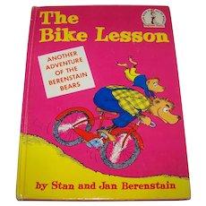 Vintage 1964 First Edition Berenstains Children's Hardback Book Titled The Bike Lesson