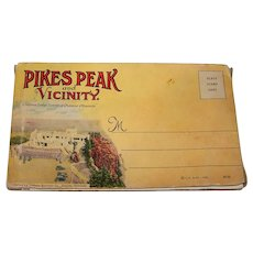 Vintage 1940's Pikes Peak & Vicinity Full Color Linen Postcard Set