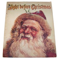 Vintage 1970 Color Soft Folio Children's Book Titled The Night Before Christmas