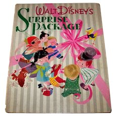 Vintage 1944 First Edition First Printing Walt Disney Hardback Book Titled Surprise Package