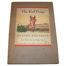 Vintage 1945 First Edition John Steinbeck Hardback Book Titled The Red Pony