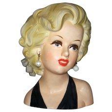 "Vintage 1955 Rare Relpo Marilyn Monroe 7"" Head Vase"