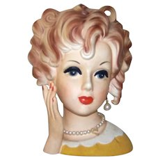 "Vintage 1957 Relpo #2055 5 ½"" Teen Head Vase"