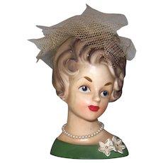 "Vintage 1960's Ardco 5 ½"" Head Vase"