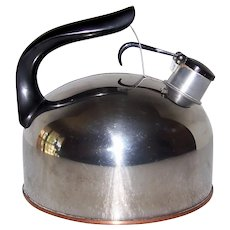 Vintage 1948-68 Revere Ware Copper Bottom Tea Kettle