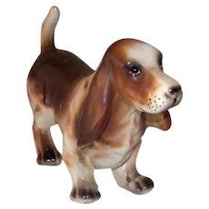 Vintage Relpo Porcelain Basset Hound Dog Figurine