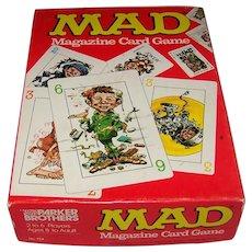 Vintage 1980 Parker Brothers Mad Magazine Card Game