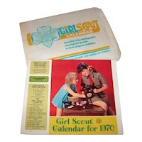 Vintage 1970 Girl Scouts Of America Wall Calendar