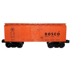 Vintage Post-War Lionel 1958  Bosco Train Boxcar Model #6014 Orange Variant B