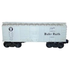 Vintage Post-War Lionel 1960 Baby Ruth Train Boxcar Model #X-6014 White Variant