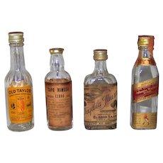 Vintage Set Of Miniature Liquor Bottles