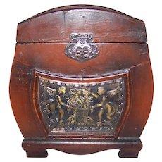 Vintage Decorative Wooden Jewelry Trunk