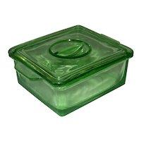 Vintage 1931-1941 Hazel Atlas Green Depression Glass Refrigerator Ware