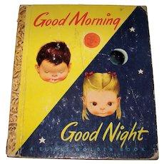 Vintage 1949 First Edition Little Golden Book Children's Hardback Book Titled Good Morning Good Night