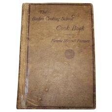 Antique 1916 Hardback Edition Of The Boston Cooking School Cookbook Written By Fannie Merrill Farmer