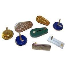 Vintage 1970's Variety Metal Party Noisemakers