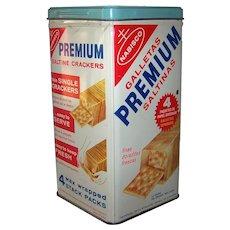 Vintage 1969 Premium Saltine Crackers Tin