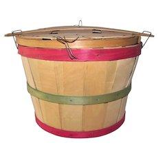 Vintage 1950's Split-Wood Farm Fruit Bushel Baskets