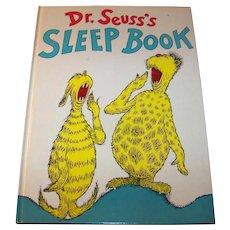 Vintage Original First Edition 1962 Children's Hardback Book Titled Dr. Seuss's Sleep Book