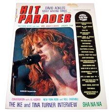 Vintage 1979 Hit Parader  Magazine Featuring Mick Jagger