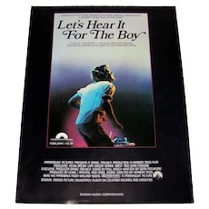 Vintage 1984 Sheet Music From Paramount Pictures Hit Movie Footloose