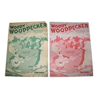 Vintage 1948 Sheet Music From The Walter Lantz Cartoons Woody Woodpecker