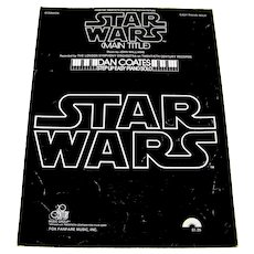 Vintage 1977 Sheet Music Featuring Theme Song From Movie Star Wars