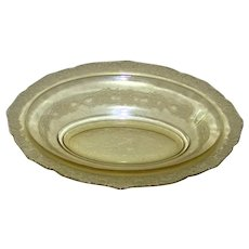 """Vintage 1932-1939 Federal Glass Madrid Amber 10"""" Oval Vegetable Bowl"""