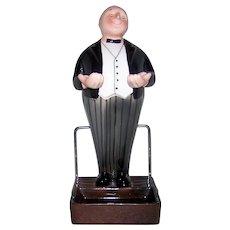 Vintage 1950's Made In Japan Ceramic Figural Vanity Butler