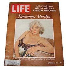Vintage 1972 Life Magazine Featuring Marilyn Monroe