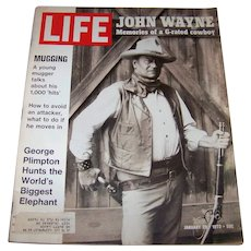 Vintage 1972 Life Magazine Featuring Legendary Actor John Wayne