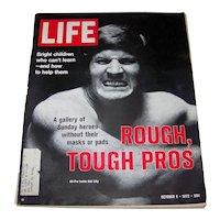 Vintage 1972 Life Magazine Featuring Dallas Cowboy Football Hall Of Famer Bob Lilly
