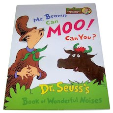 Vintage 1996 Dr. Seuss Children's Book Titled Mr. Brown Can Moo! Can You?
