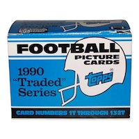 Vintage 1990 Topps Football Cards Traded Set
