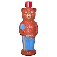 Vintage 1960's Colgate-Palmolive Commercial Character Smokey Bear Soaky Bath Soap Bottle