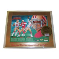 Vintage 1993 Upper Deck Joe Montana Limited Edition Superbowl Tribute Football Card Package