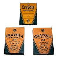 Vintage 1960's Binney & Smith Crayola Boxed Crayon Set