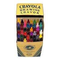 Vintage 1950's Binney & Smith Crayola Drawing Crayons