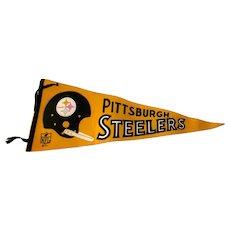 Vintage 1967 NFL Pittsburgh Steelers Football Pennant