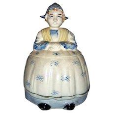 Vintage Dutch Girl Ceramic Cracker Jar