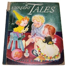 Vintage 1943 First Edition Little Golden Books Hardback Children's Book Titled Nursery Tales