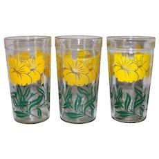 Vintage 1950's Jelly Jar Drinking Glasses