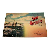 Vintage 1948 Picturesque Souvenir Book Of San Antonio Texas