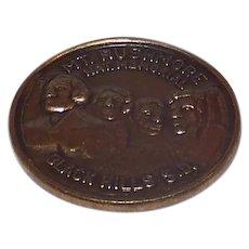 Vintage 1991 Mount Rushmore National Memorial Black Hills South Dakota Brass Coin