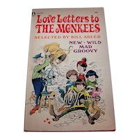 Vintage 1967 First Edition Softcover Book Titled Love Letters To The Monkees