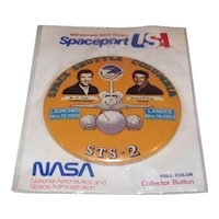 Vintage 1988 Spaceport USA NASA Discovery STS-26 Pinback Button