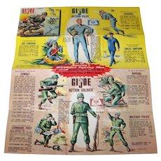 Vintage 1964 Original Mattel G I Joe Advertising Poster