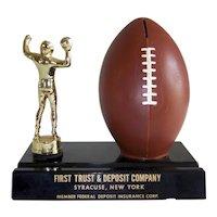 Vintage Football Trophy & Football Still Bank
