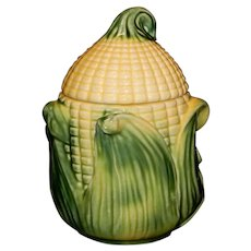 Vintage Stanfordware Corn Cob Grease Jar