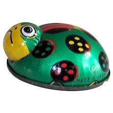 Vintage 1950's Koyo Ladybug Tin Litho Friction Toy